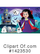 Royalty-Free (RF) Vampire Clipart Illustration #1423530