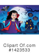 Royalty-Free (RF) Vampire Clipart Illustration #1423533