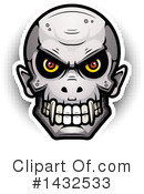 Vampire Skull Clipart #1432533 by Cory Thoman