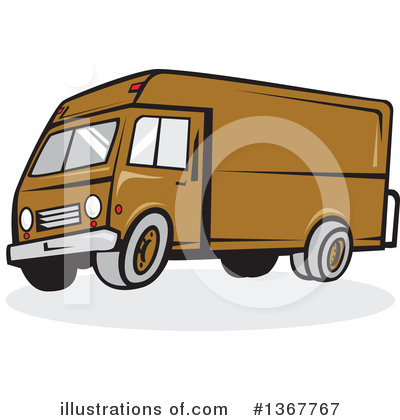 Delivery Van Clipart #1367767 by patrimonio