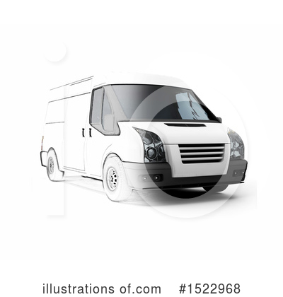 Delivery Van Clipart #1522968 by KJ Pargeter