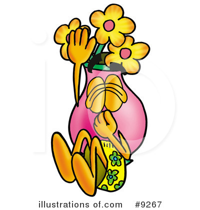 Vase Of Flowers Clipart #9267 by Toons4Biz