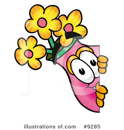 Vase Of Flowers Clipart #9285 by Toons4Biz