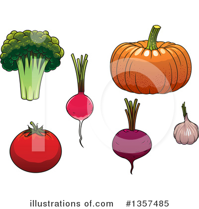 Royalty-Free (RF) Vegetable Clipart Illustration by Vector Tradition SM - Stock Sample #1357485