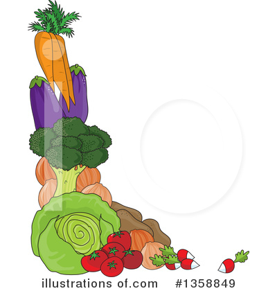 Royalty-Free (RF) Vegetable Clipart Illustration by Maria Bell - Stock Sample #1358849