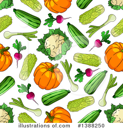 Zucchini Clipart #1388250 by Vector Tradition SM