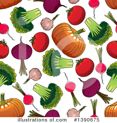 Royalty-Free (RF) Vegetable Clipart Illustration by Vector Tradition SM - Stock Sample #1390675