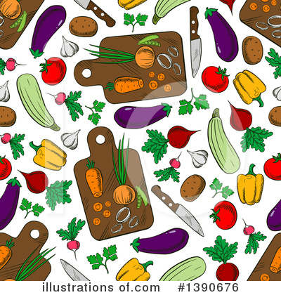 Zucchini Clipart #1390676 by Vector Tradition SM