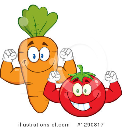 Royalty-Free (RF) Vegetables Clipart Illustration by Hit Toon - Stock Sample #1290817