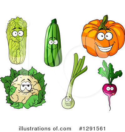 Royalty-Free (RF) Vegetables Clipart Illustration by Vector Tradition SM - Stock Sample #1291561