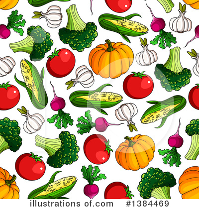 Royalty-Free (RF) Vegetables Clipart Illustration by Vector Tradition SM - Stock Sample #1384469