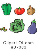 Vegetables Clipart #37083 by Dennis Holmes Designs