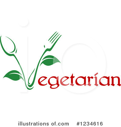 Vegetarian Clipart #1234616 by Vector Tradition SM