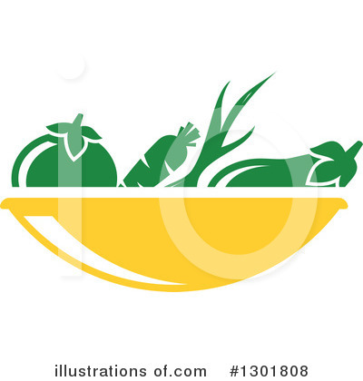 Royalty-Free (RF) Vegetarian Clipart Illustration by Vector Tradition SM - Stock Sample #1301808