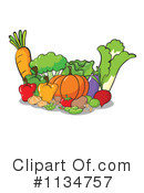 Royalty-Free (RF) Veggie Clipart Illustration #1134757
