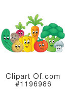 Royalty-Free (RF) Veggies Clipart Illustration #1196986