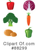 Royalty-Free (RF) Veggies Clipart Illustration #88299
