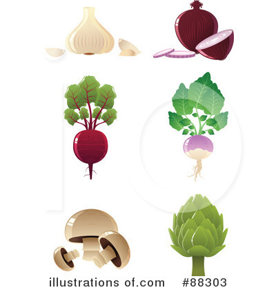 Royalty-Free (RF) Veggies Clipart Illustration by Tonis Pan - Stock Sample #88303