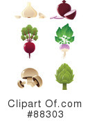 Royalty-Free (RF) veggies Clipart Illustration #88303