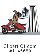 Royalty-Free (RF) Vespa Clipart Illustration #1145680