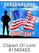 Veteran Clipart #1560422 by AtStockIllustration