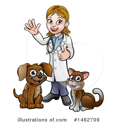 Veterinarian Clipart #1462709 by AtStockIllustration