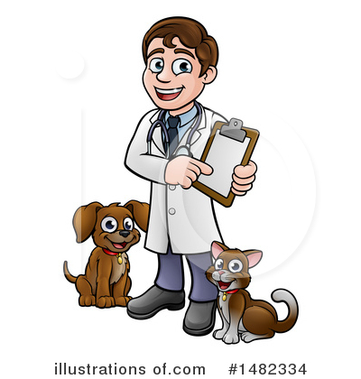 Veterinarian Clipart #1482334 by AtStockIllustration