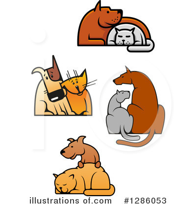 Dog And Cat Clipart #1286053 by Vector Tradition SM