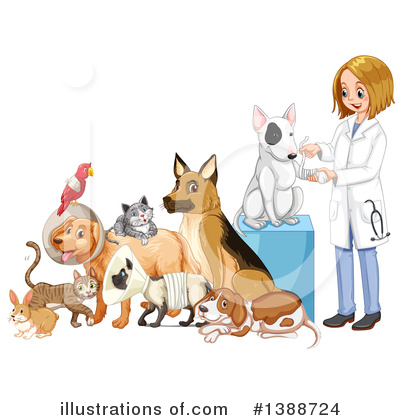 Veterinarian Clipart #1388724 by Graphics RF
