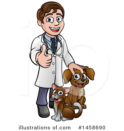 Veterinarian Clipart #1458690 by AtStockIllustration