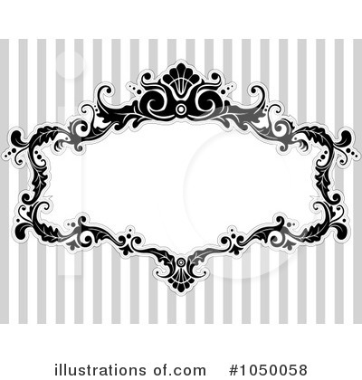 Royalty-Free (RF) Victorian Frame Clipart Illustration by BNP Design Studio - Stock Sample #1050058
