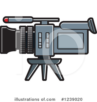 Camcorder Clipart #1239020 by Lal Perera