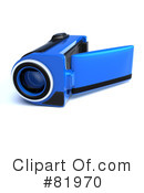 Royalty-Free (RF) video camera Clipart Illustration #81970
