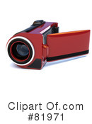 Royalty-Free (RF) video camera Clipart Illustration #81971