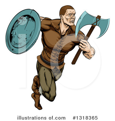 Viking Clipart #1318365 by AtStockIllustration