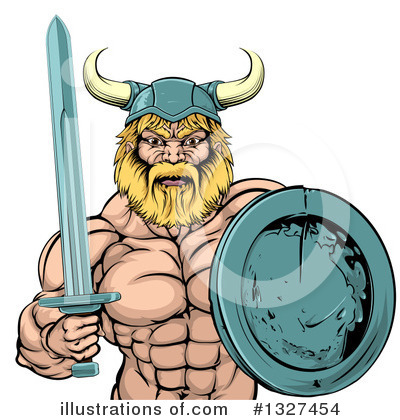 Viking Clipart #1327454 by AtStockIllustration