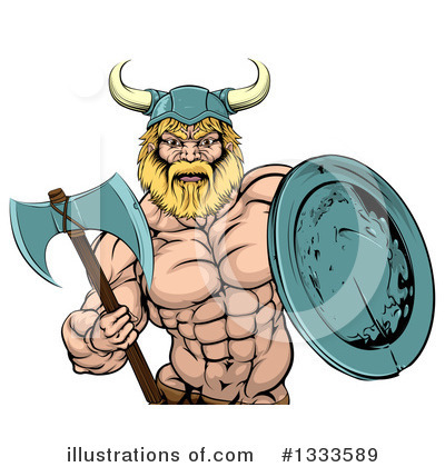 Viking Clipart #1333589 by AtStockIllustration