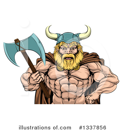 Viking Clipart #1337856 by AtStockIllustration