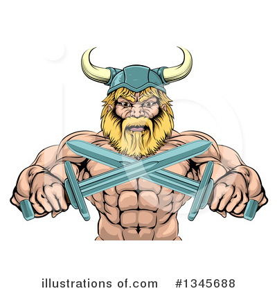 Viking Clipart #1345688 by AtStockIllustration