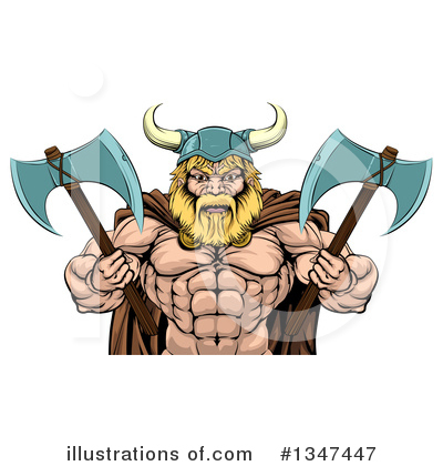 Viking Clipart #1347447 by AtStockIllustration