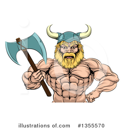 Viking Clipart #1355570 by AtStockIllustration