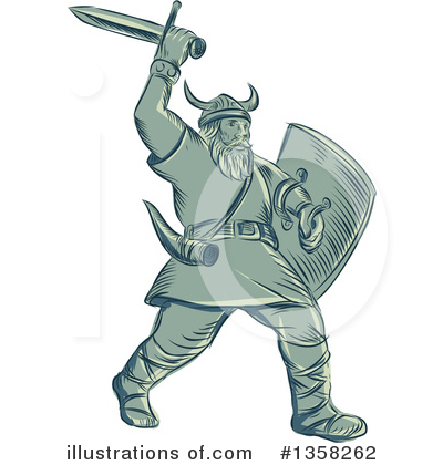 Viking Clipart #1358262 by patrimonio