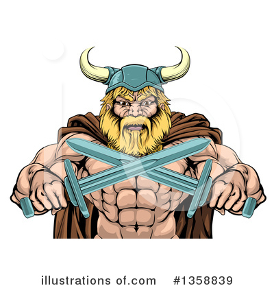 Viking Clipart #1358839 by AtStockIllustration