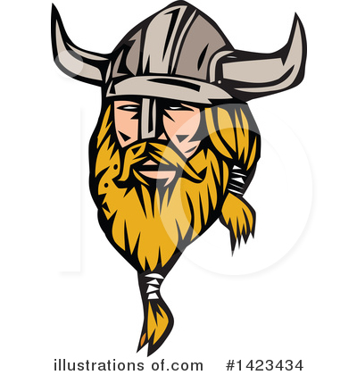 Royalty-Free (RF) Viking Clipart Illustration by patrimonio - Stock Sample #1423434