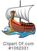 Viking Ship Clipart #1062331 by Vector Tradition SM