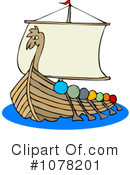 Royalty-Free (RF) Viking Ship Clipart Illustration #1078201