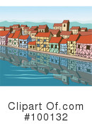 Royalty-Free (RF) Village Clipart Illustration #100132