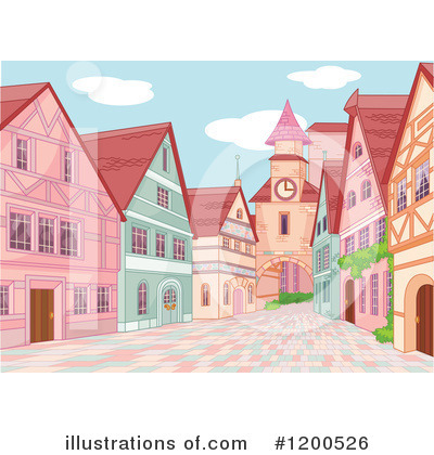 Royalty-Free (RF) Village Clipart Illustration by Pushkin - Stock Sample #1200526