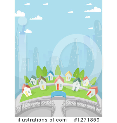 Royalty-Free (RF) Village Clipart Illustration by BNP Design Studio - Stock Sample #1271859