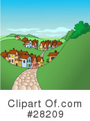 Royalty-Free (RF) Village Clipart Illustration #28209